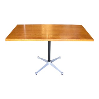 Eames Aluminum Group Table With Danish Teak Top For Sale