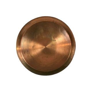 Large Round Copper Tray For Sale