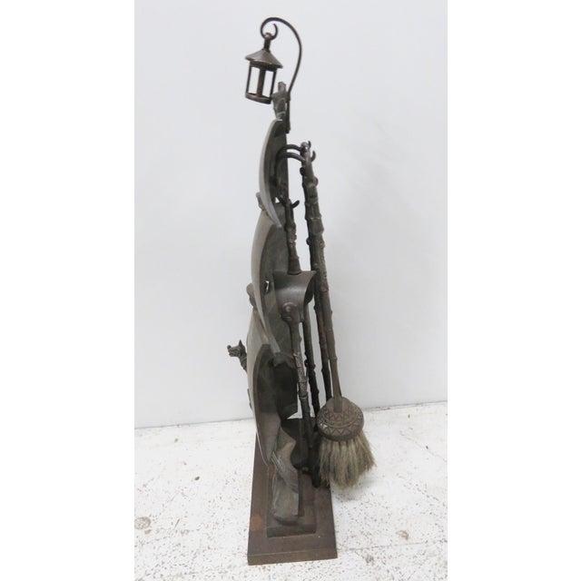 Nestor English Ship Motif Fireplace Tool Set | Chairish