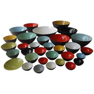 Herbert Krenchel Krenit Bowl Collection - Set of 33 For Sale