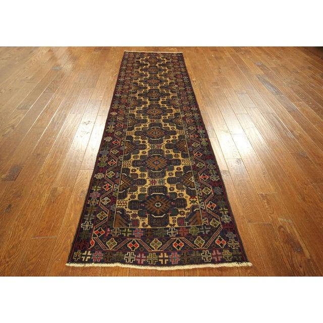 """Tribal Baluch Wool Runner Rug - 2'9"""" x 10' - Image 3 of 9"""