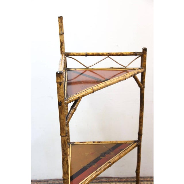 Late 19th Century Late 19th Century Bamboo & Lacquer Corner Stand For Sale - Image 5 of 8