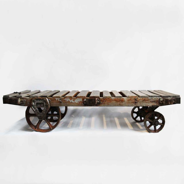 Industrial Work Cart Coffee Table - Image 2 of 5