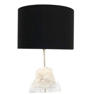 Smokey Quartz Table Lamp For Sale
