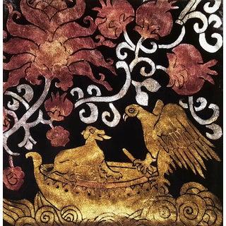 Sicilia XIII Silk Velvet Pillow For Sale