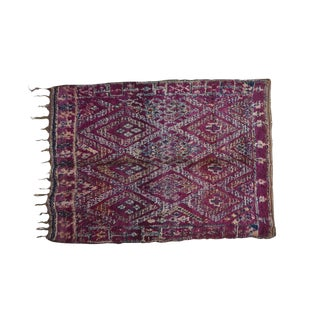 """1970s Boho Chic Boujad Vintage Moroccan Rug - 6'7"""" X 8'6"""" For Sale"""