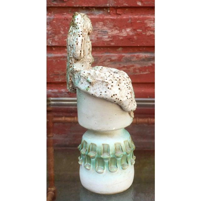 Figurative 1960s Figurative Fratelli Fanciullacci Pottery Sgraffito Vase For Sale - Image 3 of 8