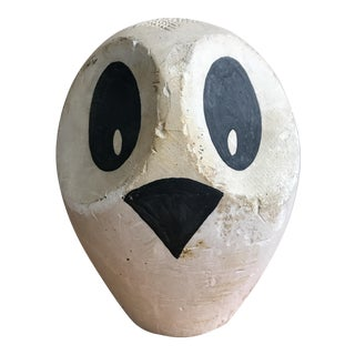 Mid-Century Original Modernist Owl Sculpture