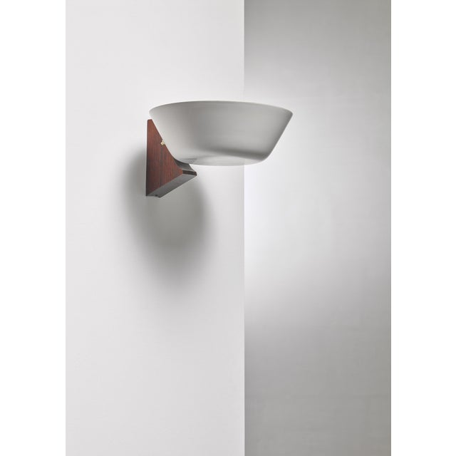 Wood and Metal Wall Lamp, Denmark, 1950s For Sale - Image 4 of 4