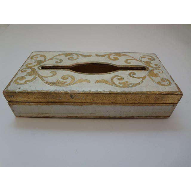 Vintage Florentine Gold Gilt Tissue Box For Sale - Image 9 of 9