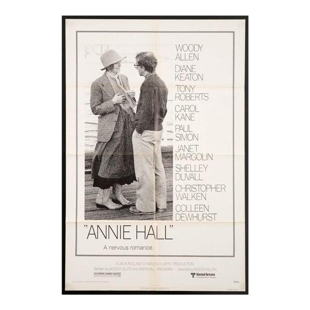 "Original Vintage 1977 ""Annie Hall"" Woody Allen Diane Keaton Film Poster For Sale"