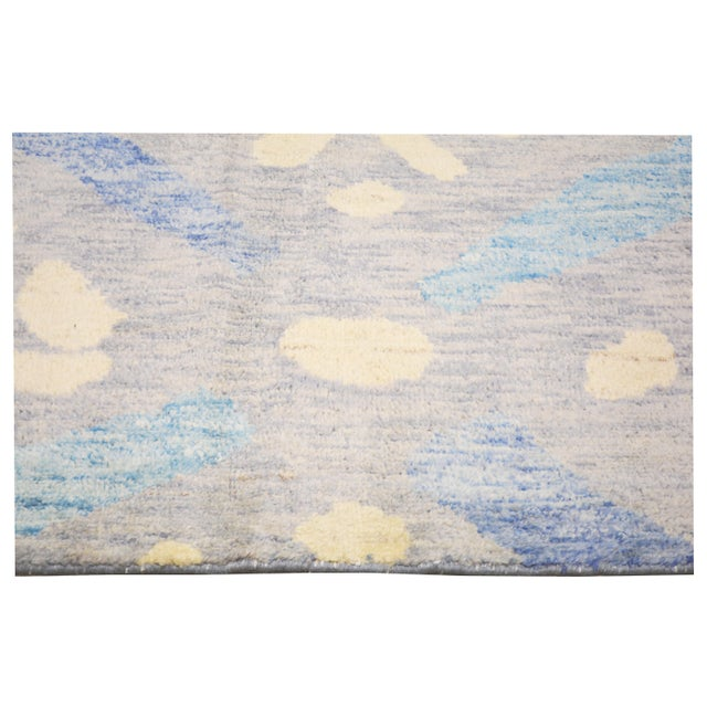 """Shabby Chic Moroccan Hand Knotted Azilal Rug With Soft Texture,6'6""""x10'2"""" For Sale - Image 3 of 5"""