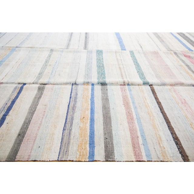 "Vintage Rag Rug Carpet - 6'6"" X 10'10"" - Image 2 of 7"
