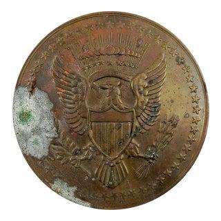 American Eagle Seal Copper Medallion For Sale