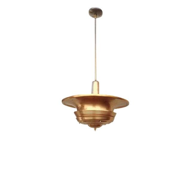 Copper Art Deco Ceiling Hanging Pendant For Sale
