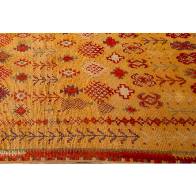 """Early 20th Century Antique Moroccan Rug, 3'10"""" X 6'2"""" For Sale - Image 5 of 10"""