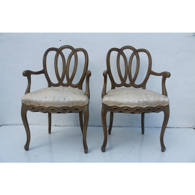 Hollywood Regency Dorothy Draper Style Arm Chairs- A Pair - Image 2 of 11