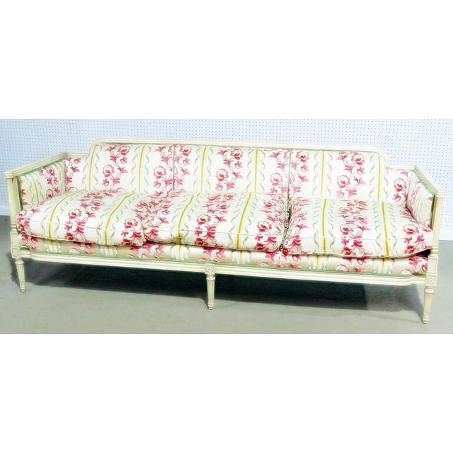 Pink Flair Decorators Inc Louis XV Style Sofa For Sale - Image 8 of 8