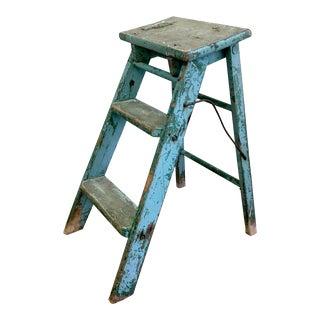 Blue Two Step Decorative Ladder