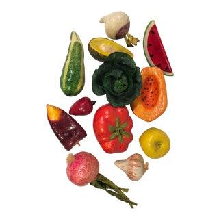 Paper Mache Fruit & Vegetables - Set of 12