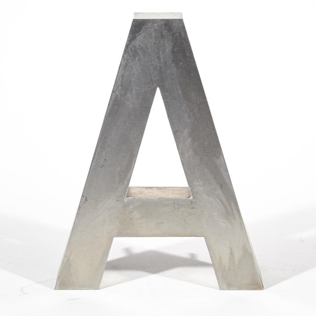 """Aluminum """"A"""" Letter - Image 2 of 4"""