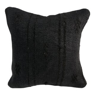 Bohemian Handmade Black Modern Decor Kilim Pillow Cover For Sale