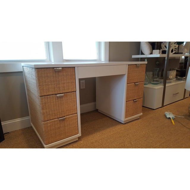 Bungalow 5 white cosmopolitan desk chairish for Bungalow 5 desk