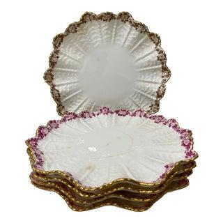 Five Coalport Dessert Plates 19th Century For Sale