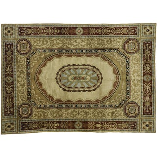 1960s Vintage French Aubusson Savonnerie Design Area Rug - 10′ × 14′ For Sale