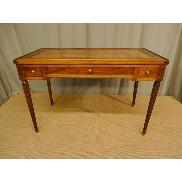 Brown 19th C French Louis XVI Style Game Table/Writing Desk For Sale - Image 8 of 8