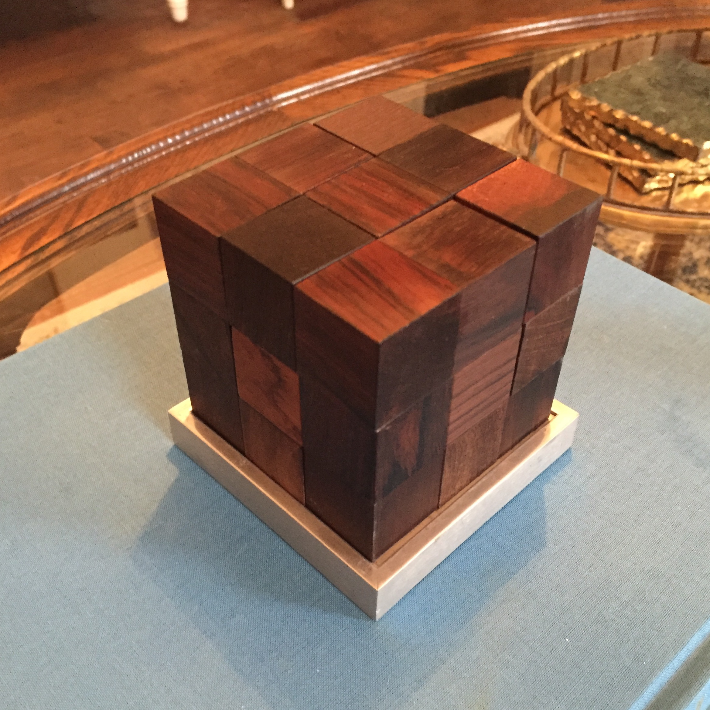 Mid Century Modern Danish Rosewood Teak Parker Brothers Cube Puzzle Game  For Sale In Charlotte