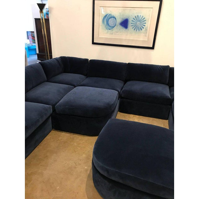 Mid Century Modern / Contemporary 10 pc Thayer Coggin Sectional in Cotton Velvet - Image 9 of 9