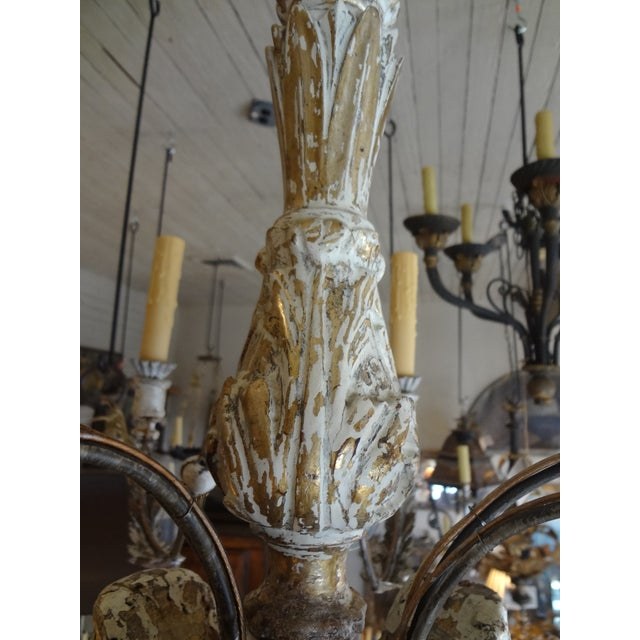 19th Century Italian Wood and Iron Chandelier For Sale In New Orleans - Image 6 of 11