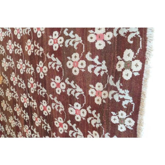 """Vintage Turkish Floral Rug - 54"""" x 82"""" For Sale - Image 4 of 5"""