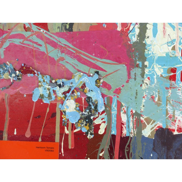 """William P. Montgomery Abstract Mixed Media Painting """"Cornucopia 2"""" on Wood For Sale - Image 12 of 13"""