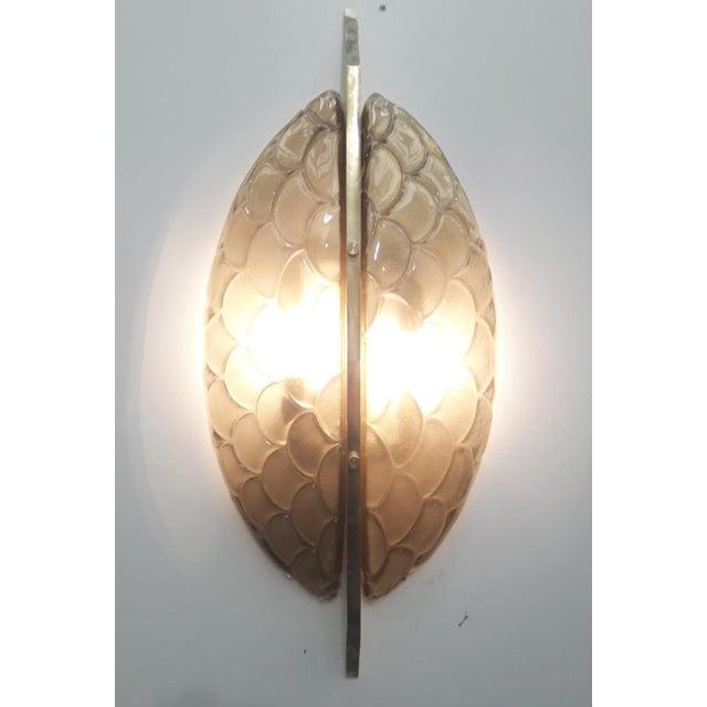 Fabio Ltd Luna Oro Sconces / Flush Mounts by Fabio Ltd - a Pair For Sale - Image 4 of 6