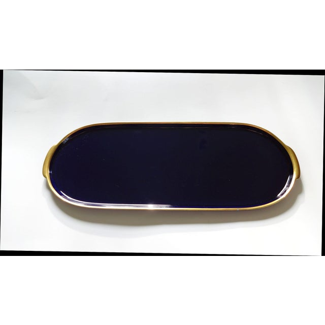 Lindner Kueps Baveria Cobalt Blue Porcelain Tray - Image 2 of 5