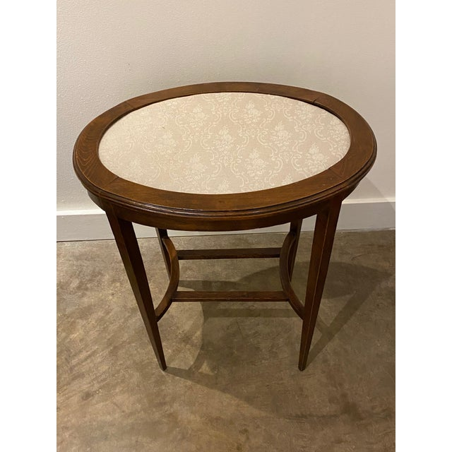Late 19th Century Italian Walnut Tea Table and Chairs - 3 Pieces For Sale - Image 5 of 10