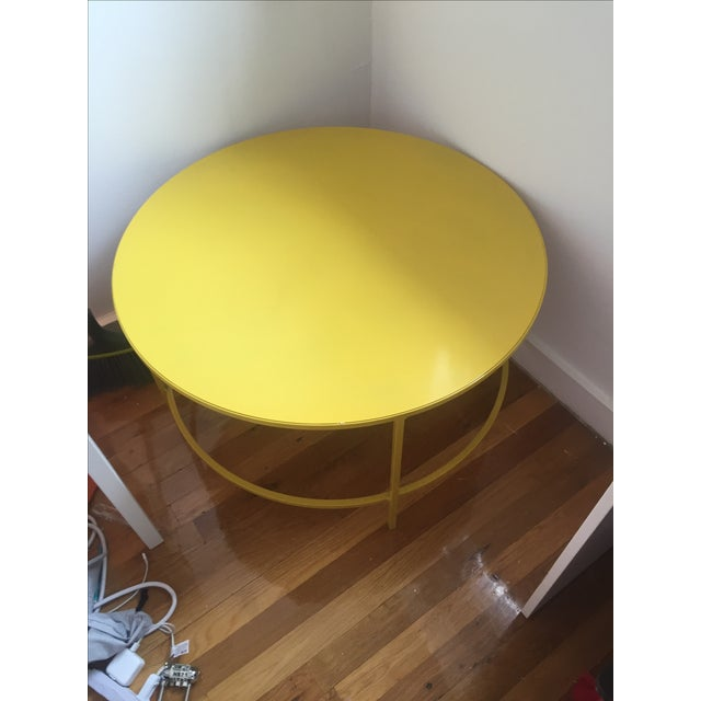 Slim, Round Cocktail Table - Image 2 of 3