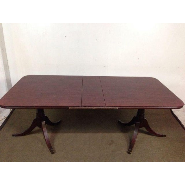 Mahogany Double Pedestal Dining Table - Image 7 of 8