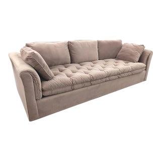 Modern Tufted Velvet Tuxedo Sofa