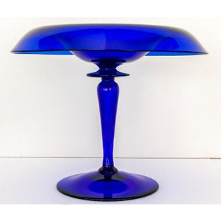 1940s Cobalt Blue Glass Compotes - a Pair Preview
