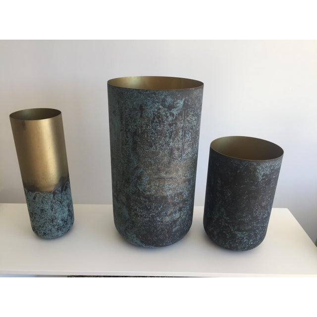 BoConcept New Oxidized Vases - Metal For Sale In San Francisco - Image 6 of 7