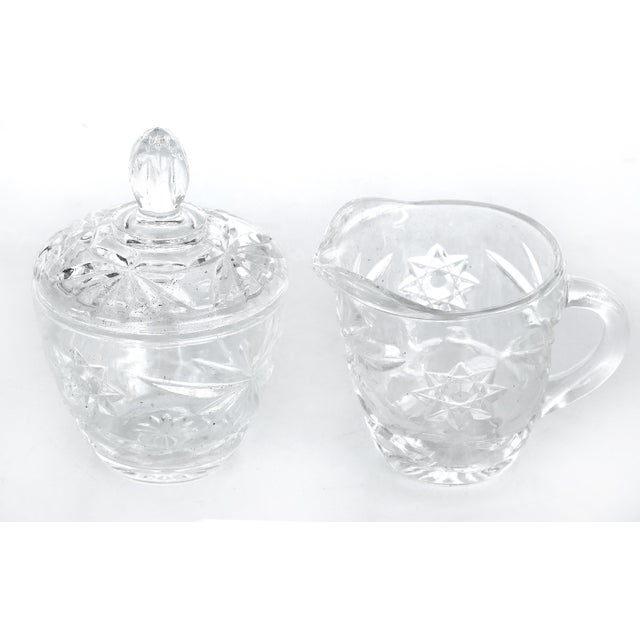 1950s Anchor Hocking Prescut Early American Glass Serving Set-Set of 7 For Sale - Image 5 of 9