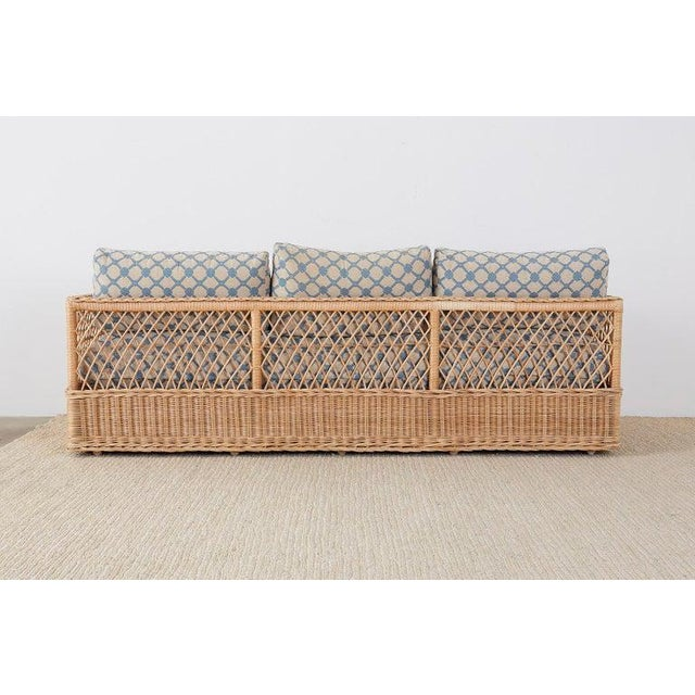 McGuire Organic Modern Rattan and Wicker Daybed Sofa For Sale - Image 12 of 13