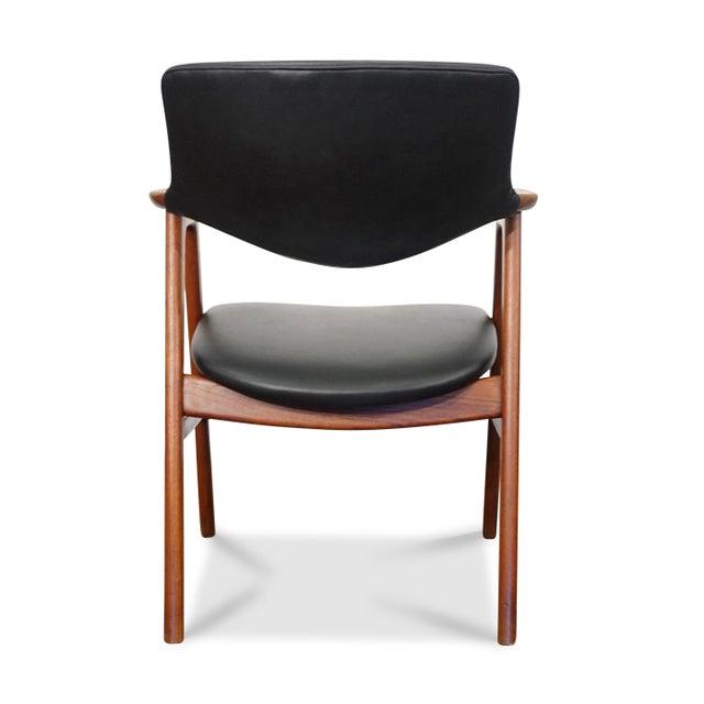 1950s Mid Century Modern Erik Kirkegaard Desk Chair - Fjellerup For Sale - Image 5 of 6