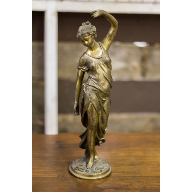Cast Iron Female Metal Sculpture - Image 2 of 10