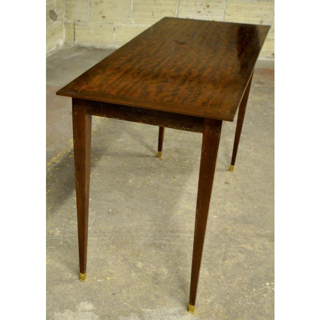 Very pure rosewood console table.