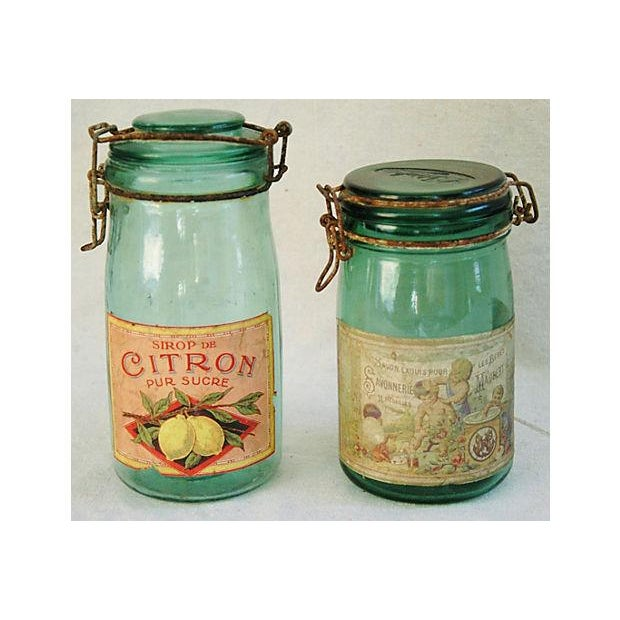 Early 1900s French Preserve Canning Jars - A Pair - Image 2 of 7