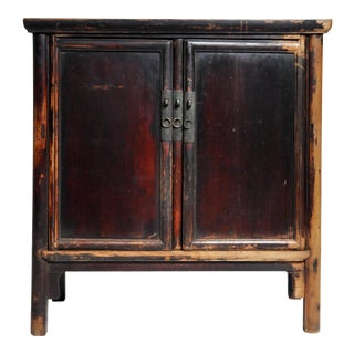 Qing Dynasty Round Post Chest With Two Drawers and Original Patina For Sale